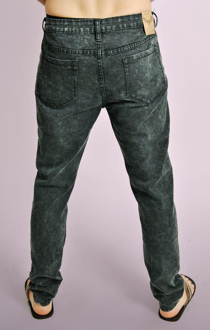 acid wash denim slim fit jeans